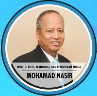 <h4>Prof. H. Mohamad Nasir, Ph.D., Ak.<br/>Menteri Riset, Teknologi, dan Pendidikan Tinggi</h4>